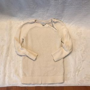 Cream cable knit fitted sweater from loft